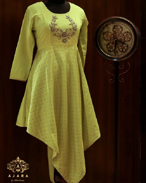 Ajara Yellow Designer Suit)img